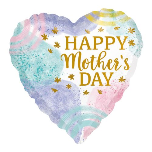 Happy Mother's Day Pastel Watercolour Standard HX Foil Balloons S40